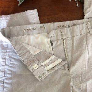 Khakis By Gap Skinny Crop Dress Pant